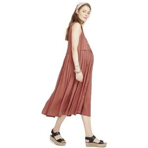 HATCH | anais sienna maternity midi dress